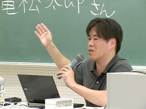 ニコニコニュース編集長 亀松太郎さんの特別講義が開かれました。